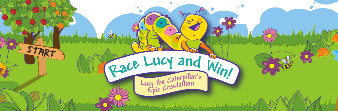 Lucy crawl-a-thon logo screen